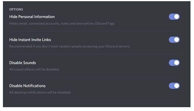 steamer mode can hide significant information