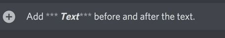 How to Italic Bold in Discord?