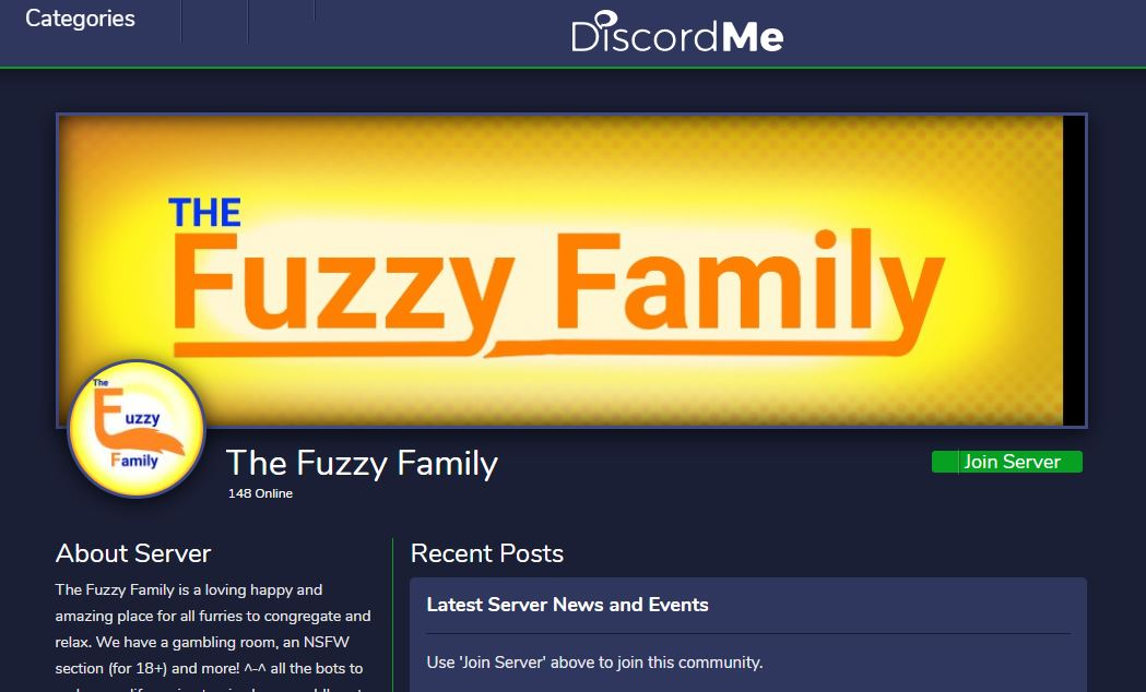 The Fuzzy Family - Best Furry Discord Servers