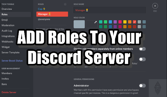 How to add roles in Discord..